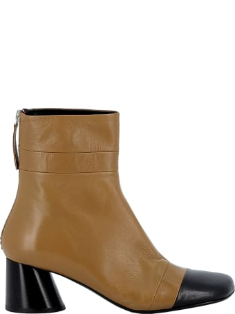 Halmanera Brown Leather Ankle Boots