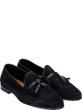 Malone Souliers Alberto Loafers In Black Suede