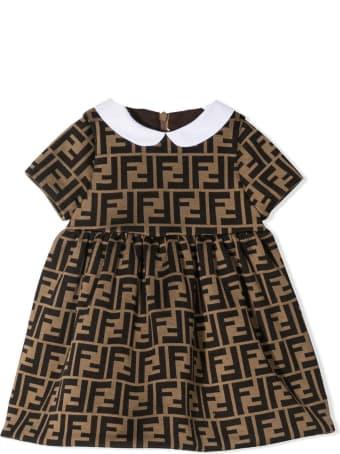 Fendi Brown Cotton Dress