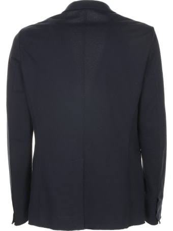 Paolo Pecora Single-breasted Blue Jacket