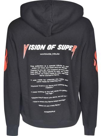 Vision of Super Sleeve & Back Print Hoodie