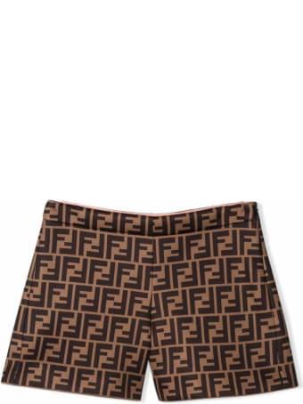 Fendi Brown Ff Shorts
