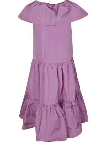 MSGM Layered V-neck Dress