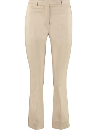 'S Max Mara Stretch Cotton Trousers