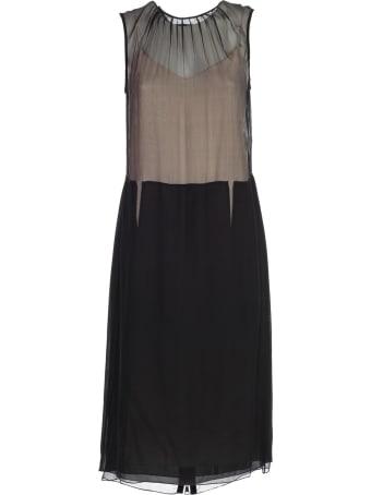 N.21 Dress W/s Chiffon Crepe W/zip Behind