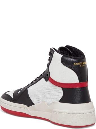 Saint Laurent Sl24 Leather Sneakers
