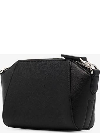 Givenchy Antigona Crossbody Bag In Black Leather With Logo