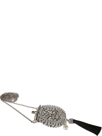 Ermanno Scervino Crystal Embellished Tassel Necklace