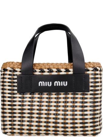 Miu Miu Intrecciato Nappa Handbag
