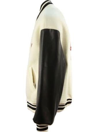 GCDS Black And White Bomber Jacket