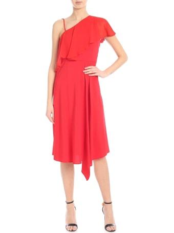 Jucca Red One-shoulder Dress