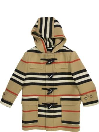 Burberry Alistar Double-faced Icon Stripe Wool Duffle Coat