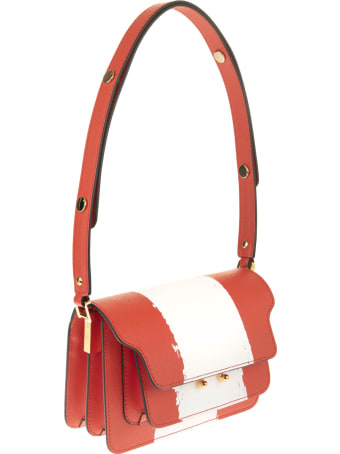 Marni Red And White Mini Trunk Bag
