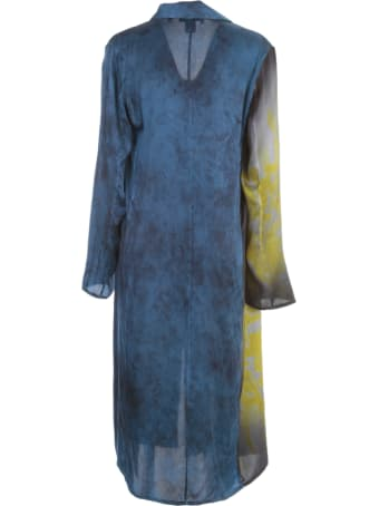 Avant Toi New Camouflage Silk Duster With Hand Painted Iris