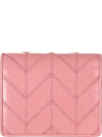 Miu Miu Shine Patched Snap Button Wallet