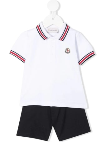 Moncler Tricolor Polo Shirt And Shorts Newborn Set