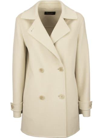 Loro Piana Jeffery Double-breasted Coat Natural Melange