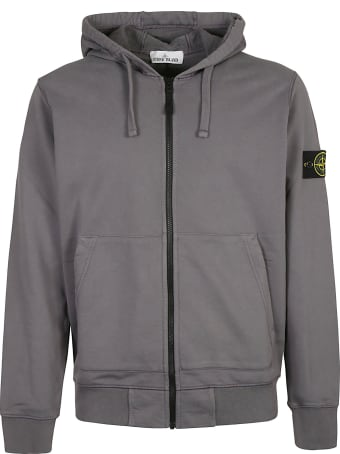 Stone Island Logo Patched Zip Hoodie