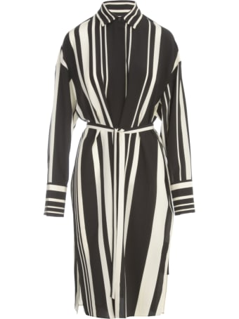 Joseph Duras Silk Stripes Midi Dress