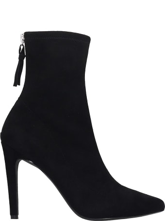 Kendall + Kylie Orion High Heels Ankle Boots In Black Suede