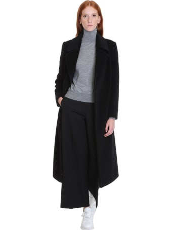 Tagliatore 0205 Molly Coat In Black Cashmere And Wool