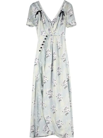 self-portrait Draped Long Dress