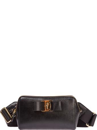 Salvatore Ferragamo  Leather Belt Bum Bag Hip Pouch Fiocco Vara