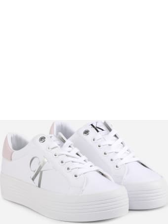 Calvin Klein Jeans Sneakers With Logo And Contrasting Heel Tab