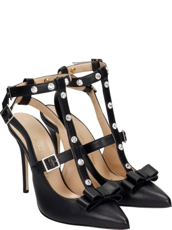Alessandra Rich Sandals In Black Leather