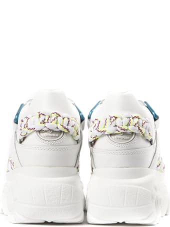 Buffalo White High Leather Sneaker