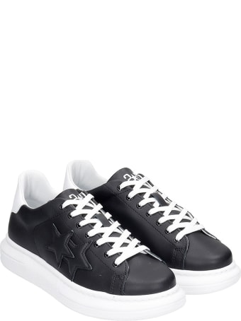 2Star Sneakers In Black Leather