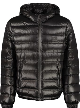 Dolce & Gabbana Hooded Short Down Jacket