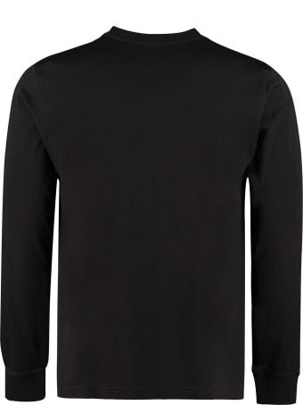 Burberry Long Sleeve Cotton T-shirt