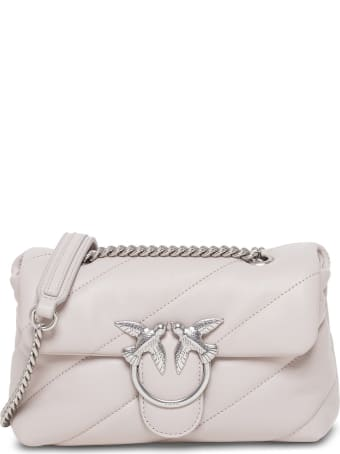 Pinko Love Mini Shoulder Bag In Quilted Leather