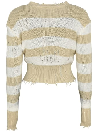 Ben Taverniti Unravel Project Striped Distressed Sweater