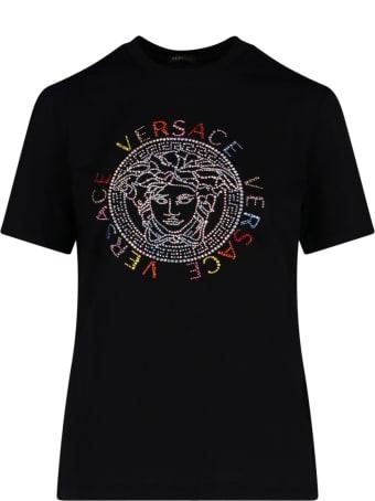 Versace Medusa Embroidered T-shirt