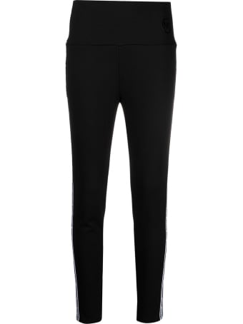 MICHAEL Michael Kors Black Pants With Side Logo Band