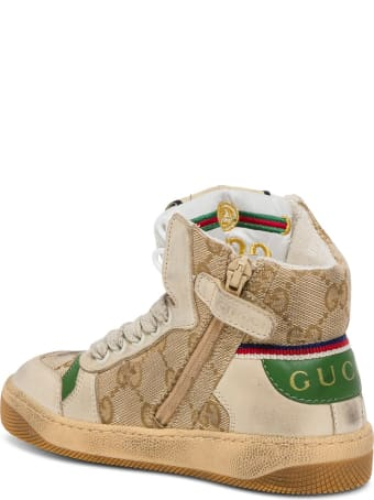 Gucci Gg Screener Sneakers With Web Detail