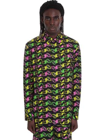 Versace Shirt In Black Cotton