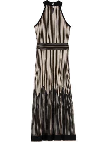 D.Exterior Lurex Knitted Long Dress