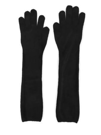 Alaia Black Gloves