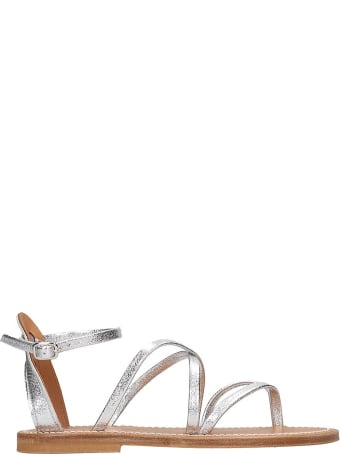 K.Jacques Epicure  Flats In Silver Leather