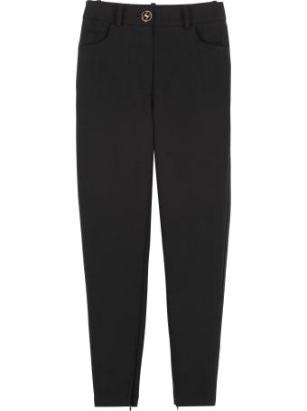 Elisabetta Franchi Celyn B. Decorative Zip Skinny Trousers