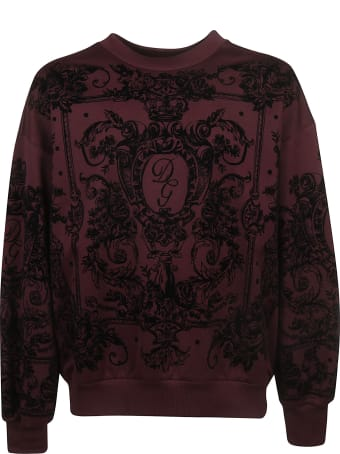 Dolce & Gabbana Initials Logo Print Sweatshirt
