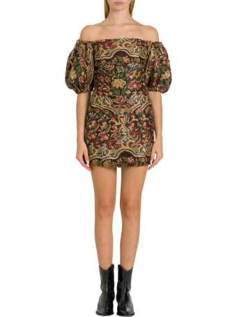 Etro Floral Jacquard Mini Dress