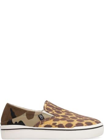 R13 Printed Fabric Slip-on Sneakers