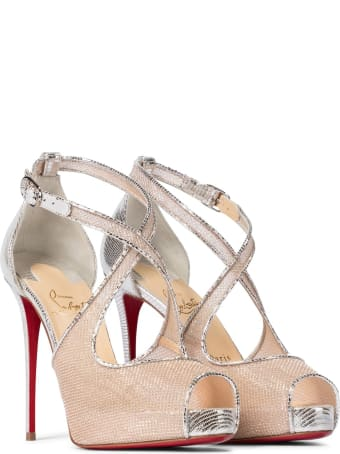 Christian Louboutin Mariacar 120 Pumps In Nude Leather