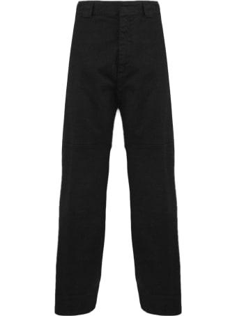 N.21 Black Cotton-blend Trousers