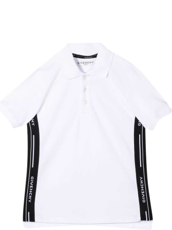 Givenchy Newborn White Polo Shirt