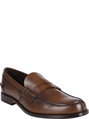 Tod's Brown Leather Penny Loafers